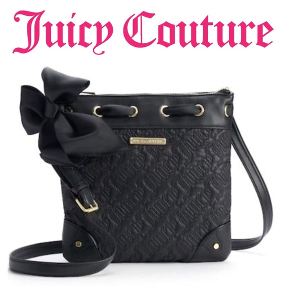 "Juicy Couture ""Sweet Dreams"" Black Bow Crossbody 95a491cafc089"